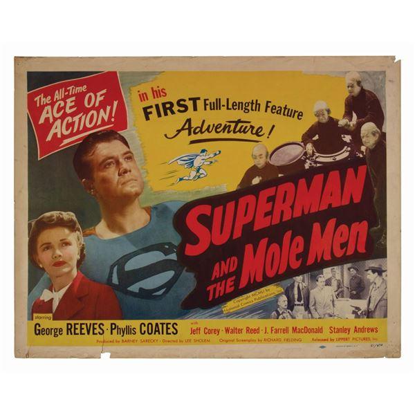 Superman and the Mole Men Half-Sheet Poster.