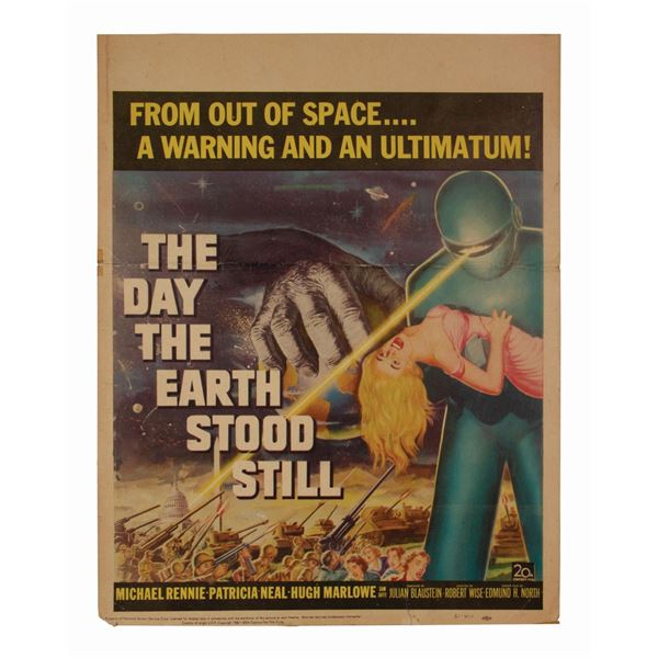 The Day the Earth Stood Still Window Card.