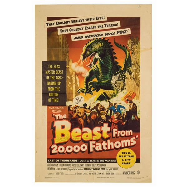 The Beast from 20,000 Fathoms 1-Sheet Poster.