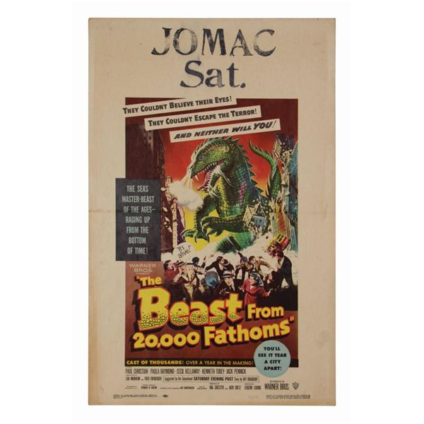 The Beast from 20,000 Fathoms Window Card.