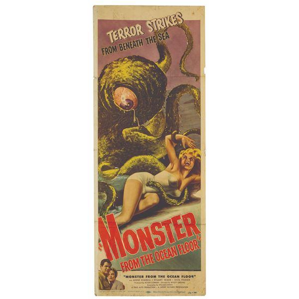Monster from the Ocean Floor Insert Poster.