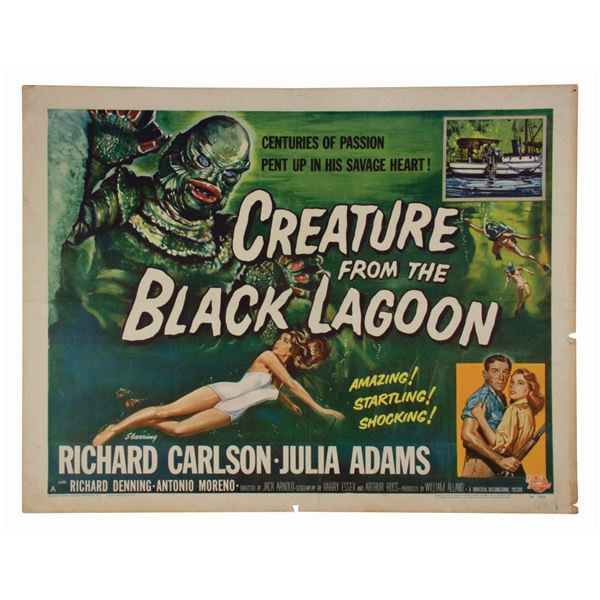 Creature from the Black Lagoon Half-Sheet Poster.