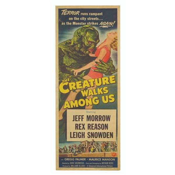 The Creature Walks Among Us Insert Poster.