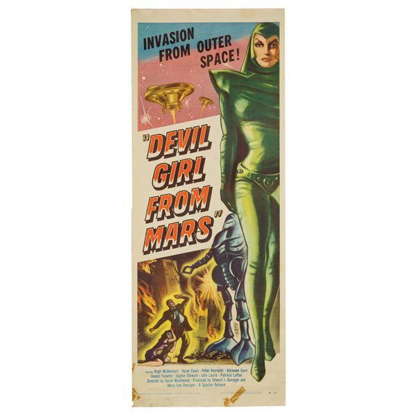 Devil Girl from Mars Insert Poster.