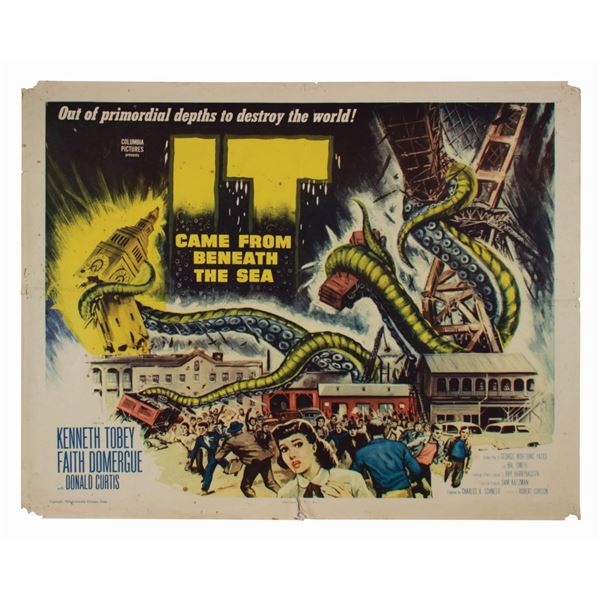 It Came from Beneath the Sea Half-Sheet Poster.