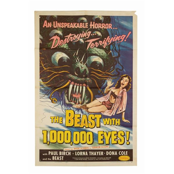 The Beast with 1,000,000 Eyes 1-Sheet Poster.