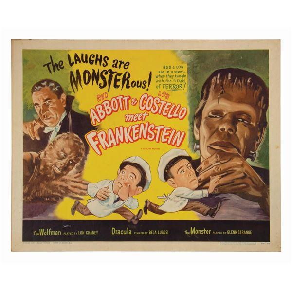 Abbott & Costello Meet Frankenstein Half-Sheet Poster.