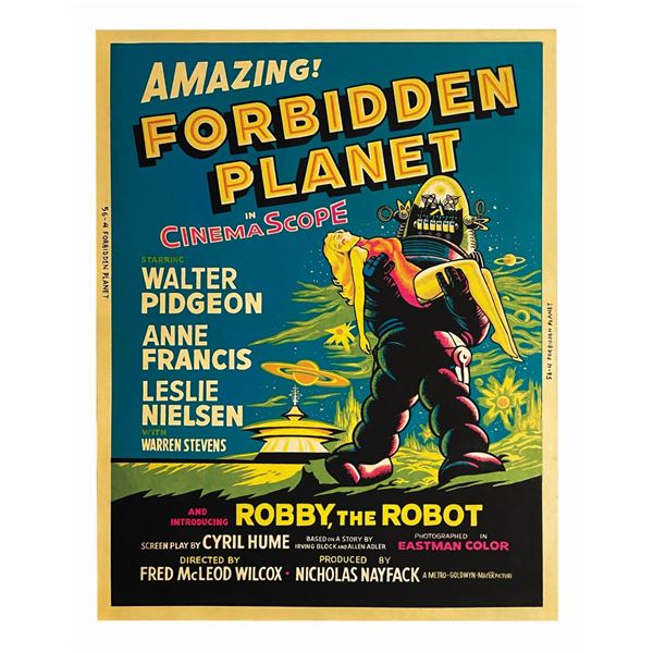 Forbidden Planet 30x40 Silkscreened Poster.