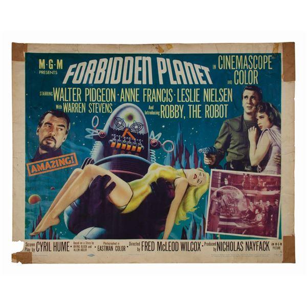 Forbidden Planet Half-Sheet Poster.