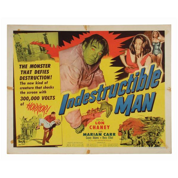Indestructible Man Half-Sheet Poster.