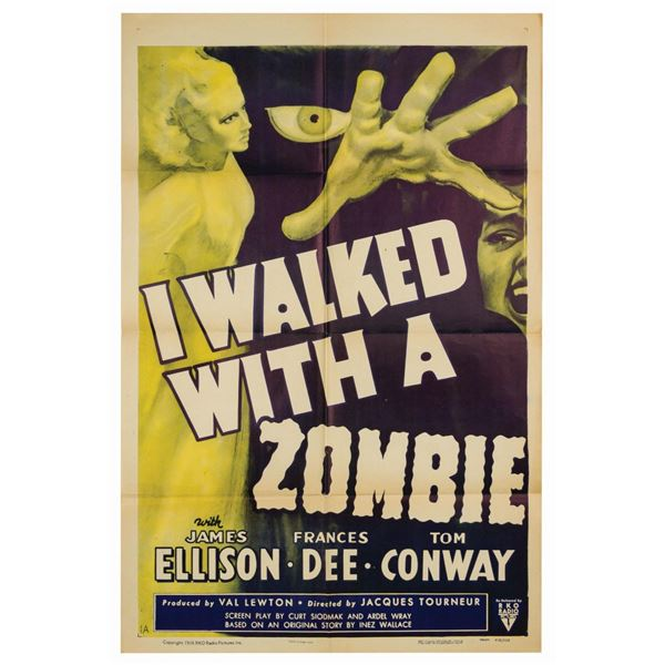 I Walked with a Zombie Reissue 1-Sheet Poster.