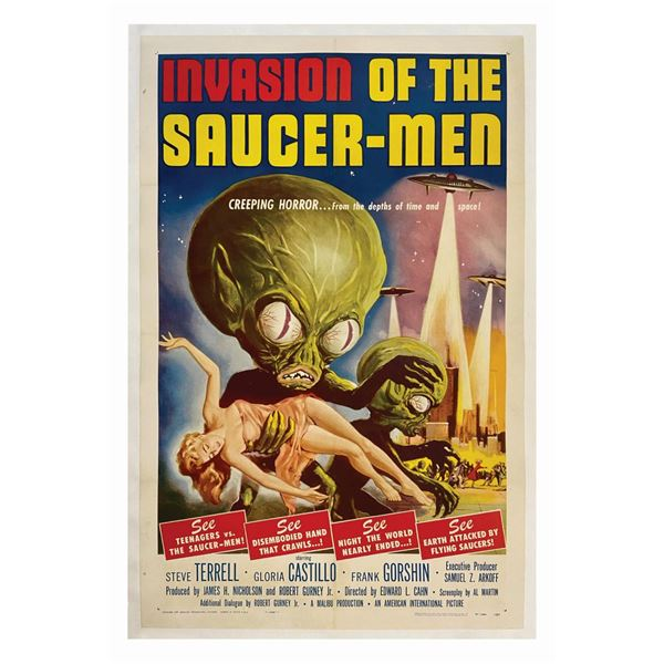 Invasion of the Saucer-Men 1-Sheet Poster.