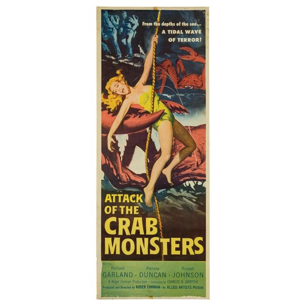 Attack of the Crab Monsters Insert Poster.
