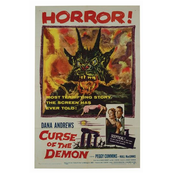 Curse of the Demon 1-Sheet Poster.