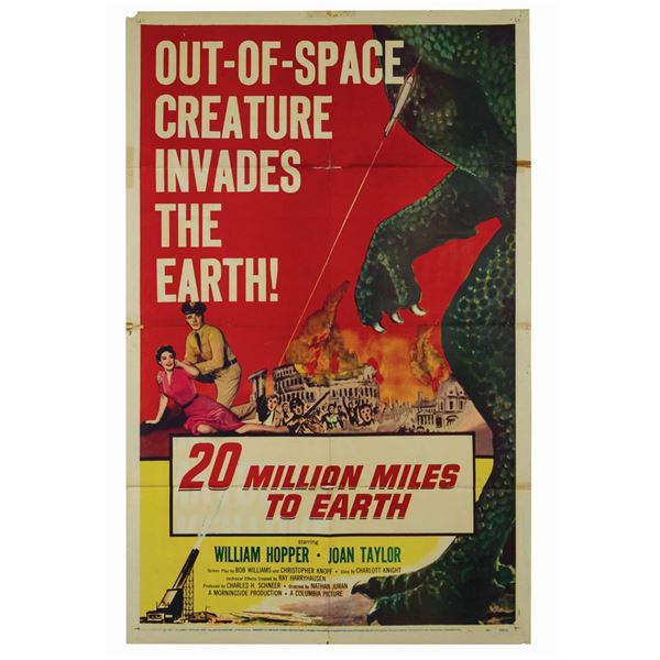 20 Million Miles to Earth 1-Sheet Poster.