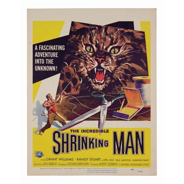 The Incredible Shrinking Man Window Card.