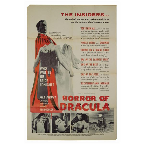 Horror of Dracula Review Style 1-Sheet Poster.