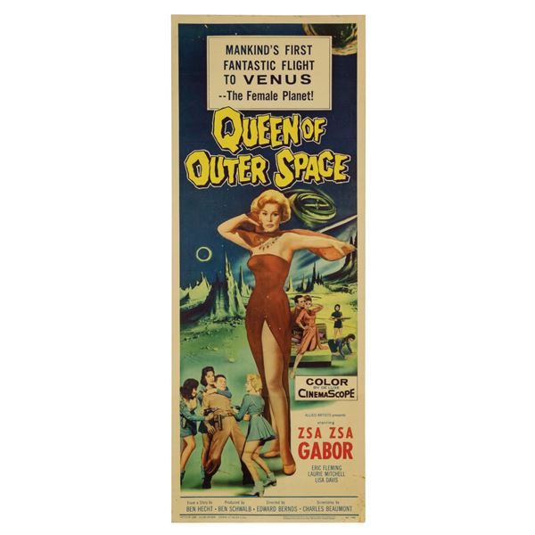 Queen of Outer Space Insert Poster.