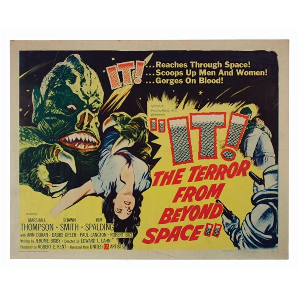 It! The Terror from Beyond Space Half-Sheet Poster.