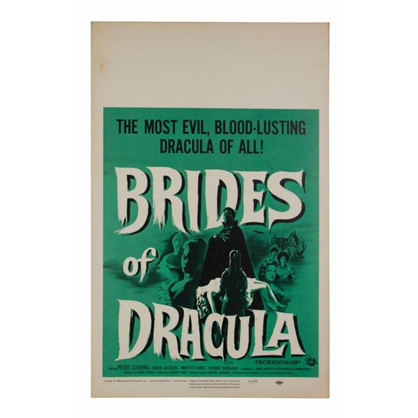 Brides of Dracula Window Card.