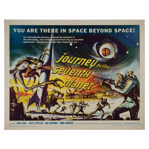 Journey to the Seventh Planet Half-Sheet Poster.