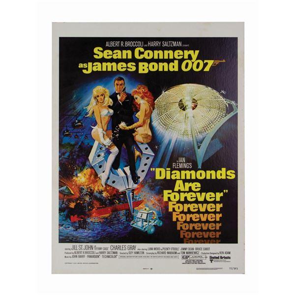 James Bond 007 Diamonds Are Forever Window Card.