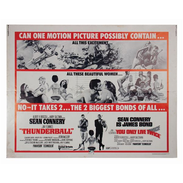 James Bond 007 Double Feature Half-Sheet Poster.
