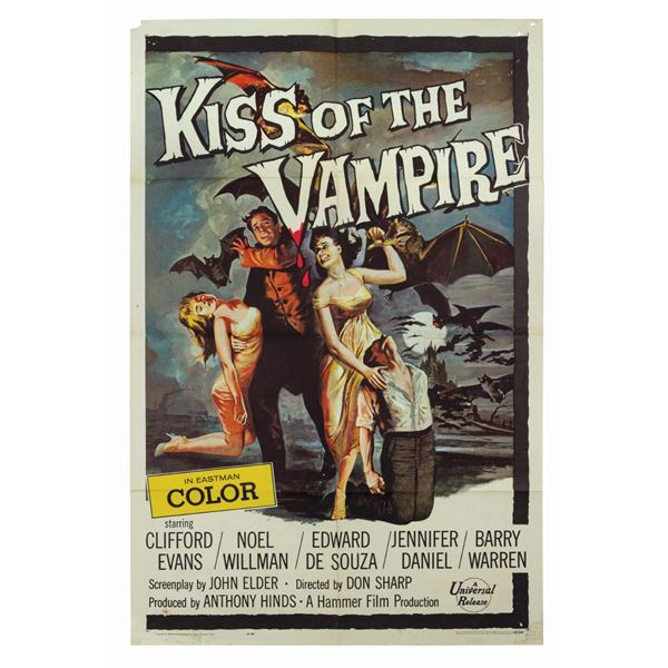 Kiss of the Vampire 1-Sheet Poster.