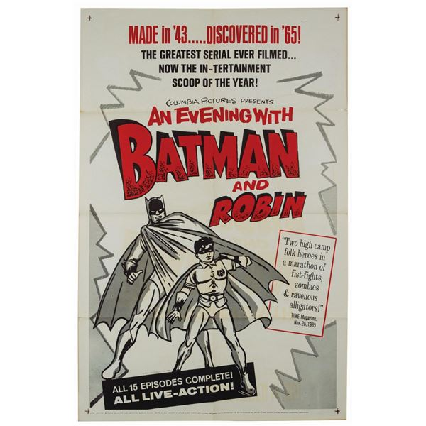 An Evening with Batman and Robin 1-Sheet Poster.