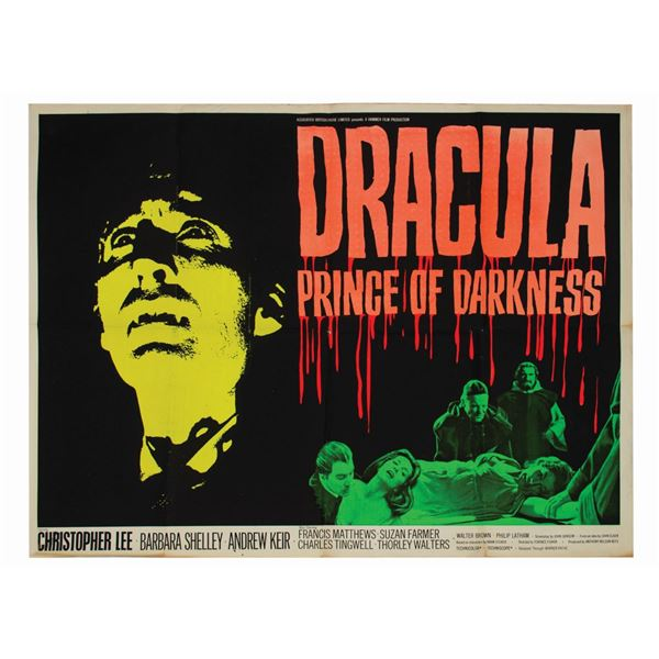 Dracula, Prince of Darkness British Quad Poster.