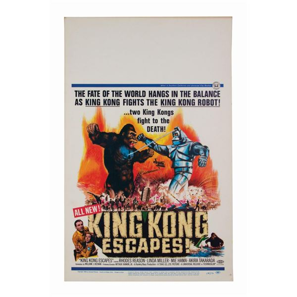 King Kong Escapes Window Card.