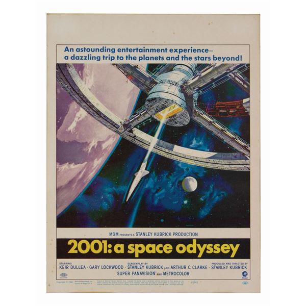 2001: A Space Odyssey Window Card.