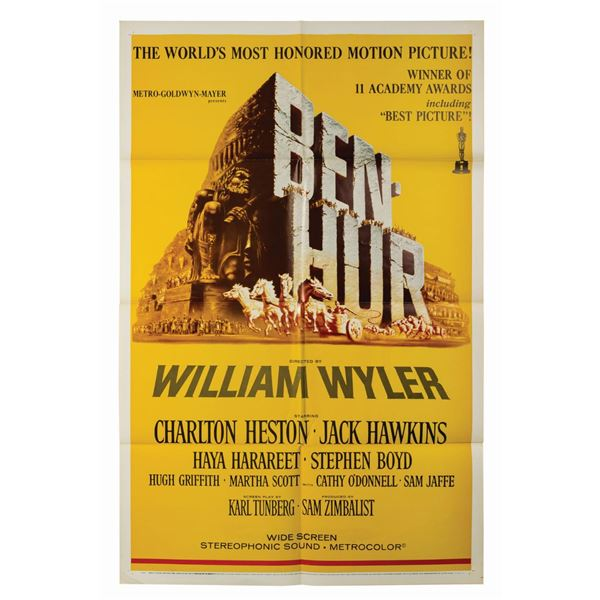 Ben-Hur Oscar Style Reissue 1-Sheet Poster.