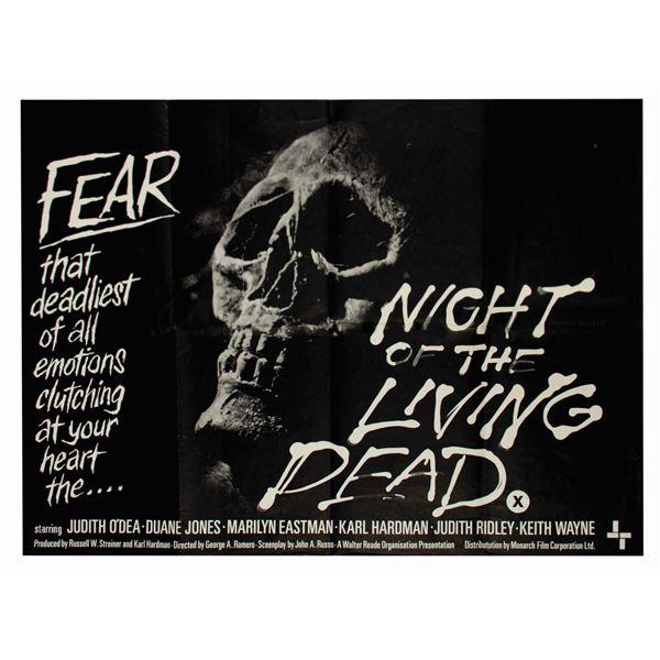 Night of the Living Dead British Quad Poster.