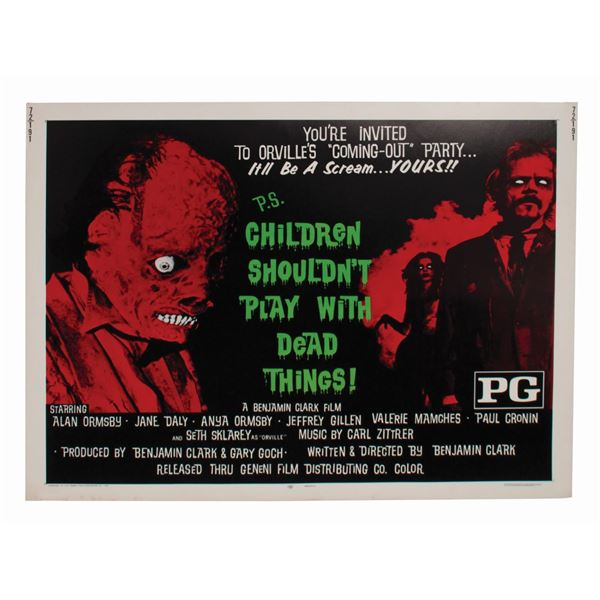 Children Shouldn't Play with Dead Things Half-Sheet Poster.