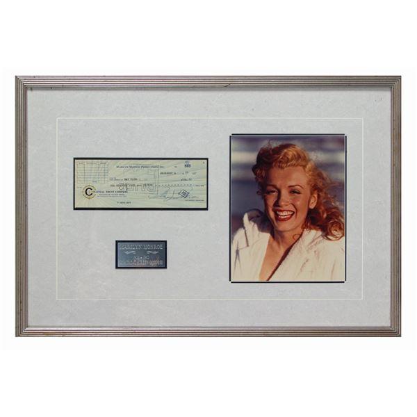 Marilyn Monroe Signed Check.