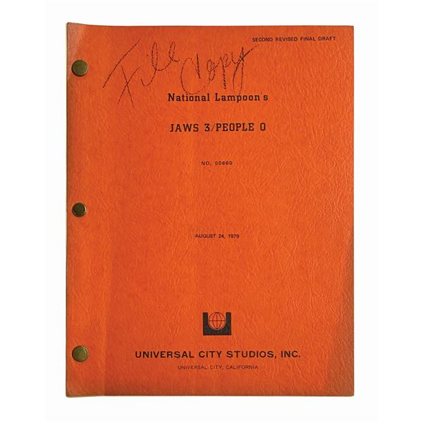 Jaws 3, People 0 Unproduced National Lampoon Script.
