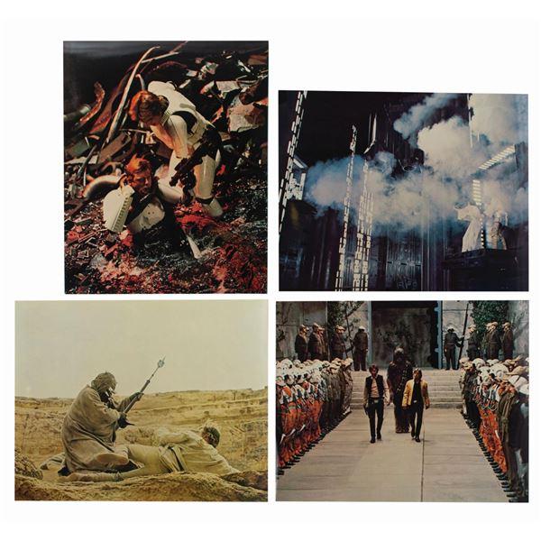 Set of (4) Star Wars Jumbo Lobby Cards.
