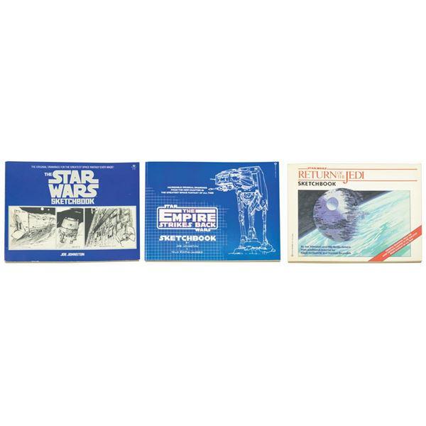 Set of (3) Star Wars Sketchbooks.