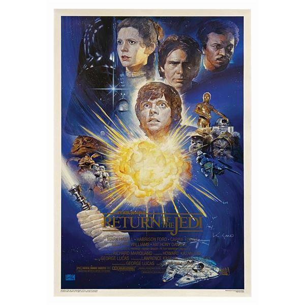 Return of the Jedi Kazo Sano Signed Anniversary Poster.