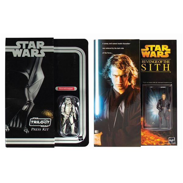 Pair of Hasbro Star Wars 2004-05 Toy Fair Press Kits.