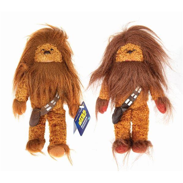 Pair of Hasbro Chewbacca Star Wars Buddy Protoypes.