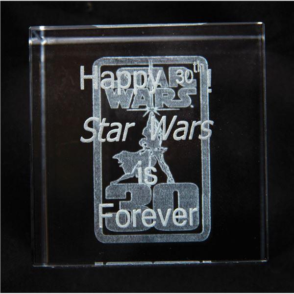 Star Wars 30th Anniversary Crystal Cube.