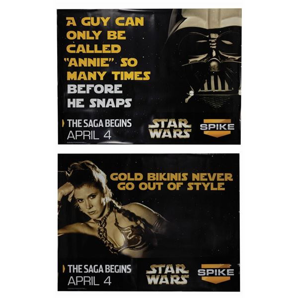 Pair of Spike TV Star Wars Subway Posters.