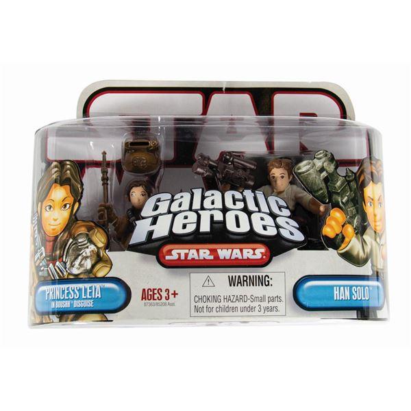 Princess Leia and Han Solo Sample Galactic Heroes Pack.