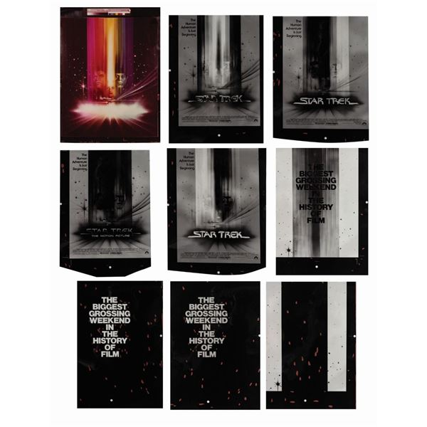 "Set of ""Star Trek"" Art Negatives & Photo Print."