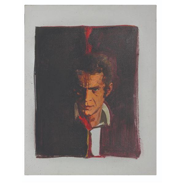 Steve McQueen Original Oil Painting on Canvas.