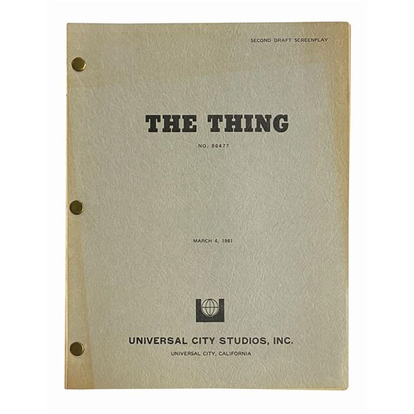 The Thing Second Draft Script.