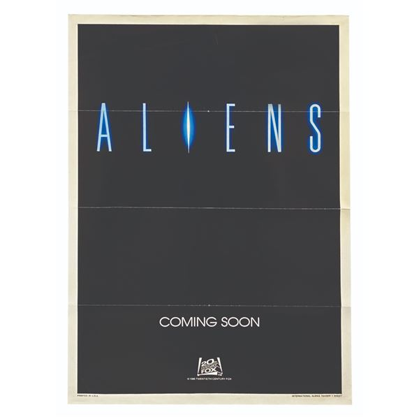 Aliens International Teaser One Sheet Movie Poster.