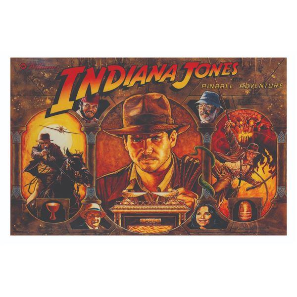 Indiana Jones Pinball Adventure Backbox Art.